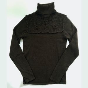Rebecca Taylor Baby Alpaca Sweater Brown